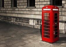 Telefooncel in Londen Royalty-vrije Stock Foto