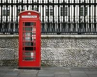 Telefooncel, Londen Stock Afbeelding