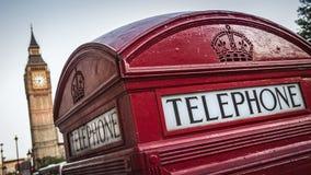 Telefooncel, Londen Stock Afbeeldingen