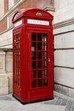 Telefooncel Londen stock afbeelding