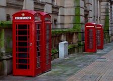 Telefooncellen in Birmingham Stock Foto
