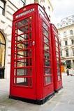 Telefooncellen in Londen Stock Afbeelding