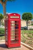 Telefoondoos in Victoria, Gozo, Malta royalty-vrije stock afbeelding