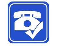 Telefoongesprek stock illustratie