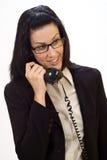 Telefoongesprek royalty-vrije stock fotografie