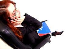 Telefoongesprek 2 Stock Foto