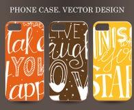 Telefoongeval Uitstekende vectorachtergrond Stickerachtergrond op telefoon Royalty-vrije Stock Afbeeldingen