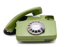 Telefooninzameling - oude analoge schijftelefoon Stock Afbeeldingen