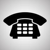 Telefoonontwerp, technologie en antiek concept, editable vector Stock Afbeelding