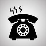 Telefoonontwerp, technologie en antiek concept, editable vector Stock Foto