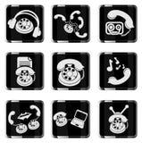 Telefoonpictogrammen Royalty-vrije Stock Afbeeldingen