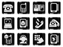 Telefoonpictogrammen Stock Foto