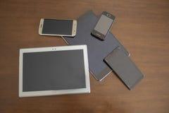 Telefoons en tabletten royalty-vrije stock afbeeldingen