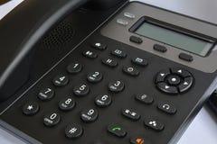 Telefoontoestel met vertoning en knopen Moderne telefoon voor ip -ip-telephonyP royalty-vrije stock afbeelding
