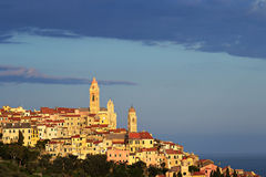 Alte Stadt Cervos, Italien Stockfotos