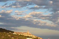 Alte Stadt Cervos, Italien Stockfotografie