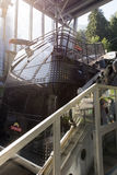 Teleférico de la cubierta del doble de Cabrio, Stanserhorn Foto de archivo