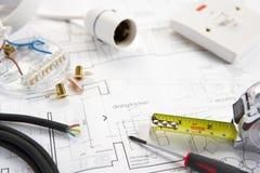 Telegraferende hulpmiddelen en materialen Stock Foto