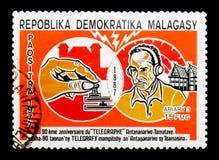 Telegrafie, Telekommunikation serie, circa 1977 stockbilder