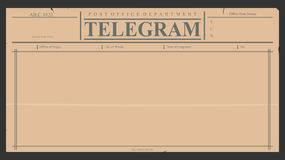 telegram Royaltyfria Foton