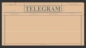 telegram Zdjęcia Royalty Free