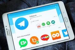 Telegram app fotografia stock