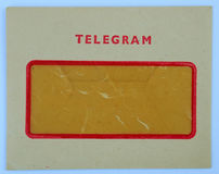 Telegram - envelope Royalty Free Stock Images