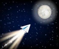 Telegrama cryptocurrency lata księżyc lubi astronautycznej rakiety wektor ilustracyjny ilustracji