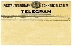 Telegramma dell'annata Fotografie Stock Libere da Diritti