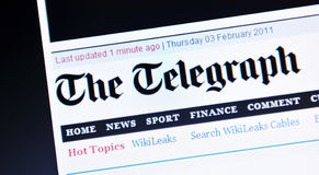 The Telegraph Royalty Free Stock Photo