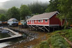 Telegraph Cove, British Columbia, Canada Stock Image