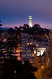 Telegraph Hill at Night Stock Photography
