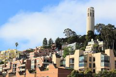Telegraph Hill. San Francisco cityscape - Telegraph Hill and Coit Tower Stock Images