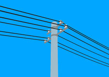 Telegraph pole. Illustration of telegraph pole and wires Royalty Free Stock Images
