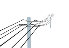 Telegraph pole. Illustration of telegraph pole and wires Stock Photography