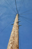 Telegraph Pole. Communication Lines stock photography