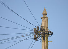 Telegraph pole Royalty Free Stock Photo