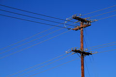 Telegraph pole Stock Photography