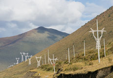 Telegraph pole in highland Stock Photography