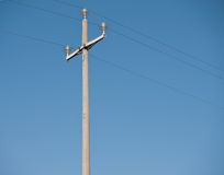 Telegraph pole with sky Royalty Free Stock Photography