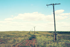 Telegraph poles Royalty Free Stock Photography