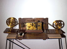 Telegraph. Very old telegraph on the white background Stock Photography