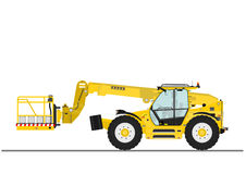 Telehandler with bucket Royalty Free Stock Image