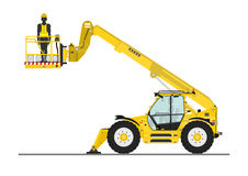 Telehandler with bucket Stock Photography