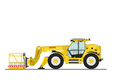 Telehandler with bucket Royalty Free Stock Photography
