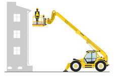 Telehandler with bucket Royalty Free Stock Photos