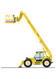 Telehandler with bucket Stock Photos