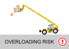 Telehandler risk royaltyfri illustrationer