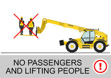 Telehandler safety. Royalty Free Stock Image