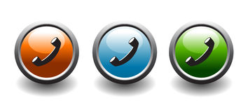 Telehpone button icons Stock Images